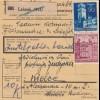 GG Inlandspaketkarte poln. Paketnummernzettel (PNZ) Lezajsk nach Kielce