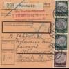 GG Inlandspaketkarte Warschau nach Wlodawa, BPP Signatur