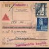 GG Inlandspaketkarte Warschau, Nachnahme nach Krasnystaw, sehr seltenes Formular