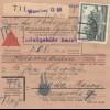 GG Inlandspaketkarte Warschau als Nachnahme nach Rawa Maz.,