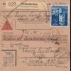 GG Inlandspaketkarte Tschenstochau, Nnachnahme, Handrollstempel nach Kielce