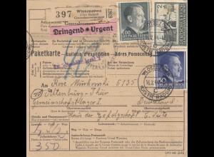 GG: Auslandspaketkarte DRINGEND aus Wloszczowa nach Altenburg Lager