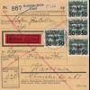 GG: Inlandspaketkarte Ryki -Demblin-Irena-Warschau, Eilbote, MiF #35
