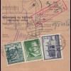 GG: Inlandspaketkarte Warschau-Lublin, Lagergebühr, 18kg, Nachnahme
