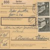 GG Inlandspaketkarte Gorlice - Wlodawa mit schöner MeF 60Gr.