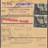 GG Inlandspaketkarte Warschau - Kielce mit schöner MeF 60Gr. - 6x