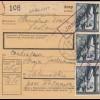 GG Inlandspaketkarte Jaslany nach Milanowek, MeF 40 Gr.