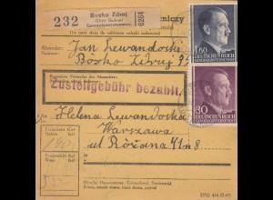 GG Inlandspaketkarte Busko Zdroj nach Warschau