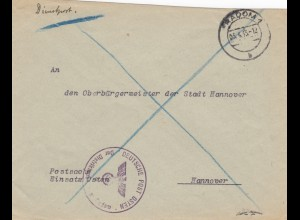 GG: Postschutz: Einsatz Osten, Radom nach Hannover