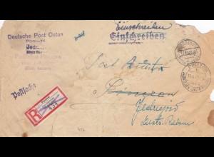 GG: Postsache Postbüro Pinczow/Jedrzejow, interessante Wiederwendung Rückseitig