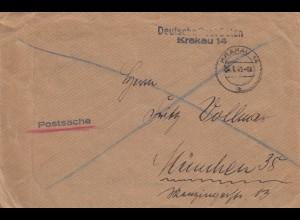 GG: Postsache Krakau 14 nach München