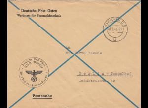 GG: Postsache DDP Warschau-Werkstatt Fernmeldetechnik nach Berlin