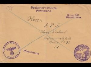 GG: Postsache Piwniczna nach Berlin-Postsammelstelle, Negativstempel
