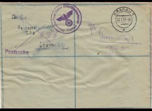 GG: Postsache Krakau Distriktswerkstatt nach Chemnitz