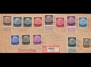GG R-Brief R-Zettel Feldpost überstempelt Radom nach Bad Bramstedt
