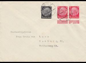 GG frühe Post: 10.12.39 Warschau nach Hamburg, portogerecht