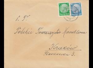 GG frühe Post: 03.12.39, Bochnia nach Krakau, portogerecht