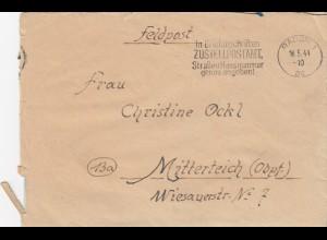 GG: Feldpostbrief mit sehr seltenem Werbestempel W8a von Radom nach Mitterteich