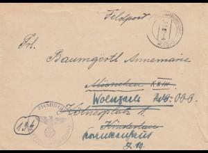 GG: Brief 10.2.45, FPNr. 30904D, SS-Freiwilligen Division Galizien, Marburg