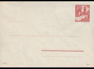 GG: Ganzsache U2/02, blanko mit eingelegtem Briefbogen, selten da oft Aufbrauch