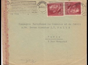 GG France: Lemberg 2. Gew. Stufe, Inlandsporto nach Paris, portogerecht, selten