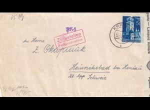 GG Schweiz: Interniertenpost Krakau - Heinrichsbad, 2x Zensur