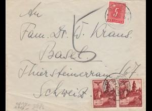 GG Schweiz Brief aus Jedlnia nach Basel, Taxe wegen fehlender 2 Gr., FPNr. 32042