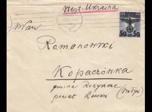 GG Ukraine: Brief Warschau, portogerecht, Zensur