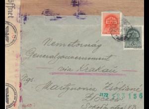 GG Ungarn: Brief nach Krakau, Zensur