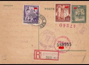 GG USA: 10.12.41 Einschreiben Lemberg, 1 Tag vor Kriegserklärung USA, SPÄTE POST