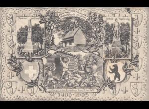1905: Ansichtskarte Apenzell nach Alstsädten