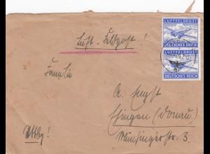 1943: Luftfeldpost FPNr. 24010B nach Esslingen