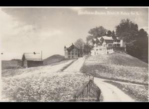 1934: Ansichtskarte Schweiz St. Anton, Gasthaus Pension Rössli