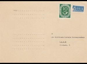 Vorfrankierte Postkarte an die politisch Soziale Korrespondenz, Bonn, Spende, ..