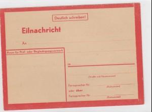 Eilnachricht /Lebenszeichen Postkarte rot, StdW. 4305 43