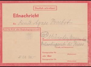 Eilnachricht /Lebenszeichen Postkarte München nach Garmisch 13.7.44