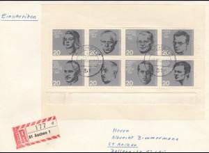 Bonn Einschreiben mit Widerstandskämpfer Block 1964, 7.10.64 Aachen