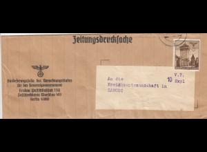 GG Zeitungsdrucksache Streifband Verordnungsblatt des GG nach Zamosc