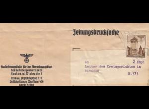 GG Zeitungsstreifband, Verordnungsblatt des GG Krakau nach Rzeszow