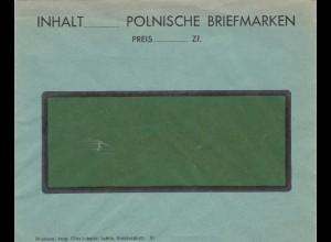 Formular Blanko Brief: Inhalt polnische Briefmarken