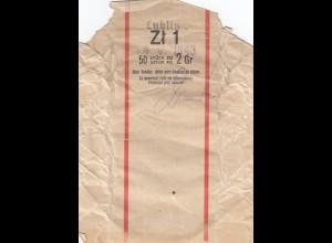 GG: Generalgouvernement: Banderole für 1 Zloty mit 50 Münzen a 2 Gr. von 1943