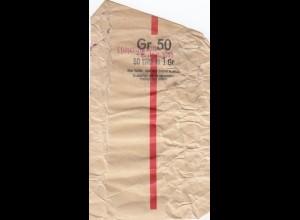 GG: Generalgouvernement: 1943 Banderole für 1 Zloty mit 50 Münzen a 1 Gr.