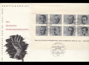 Widerstandskämpfer Block 1964, FDC