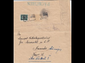 GG Päckchen - Ausschnitt Liegnitz, Krakau, Neumarkt