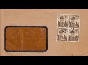 GG MeF der 6Gr. Bautenmarke, portogerecht auf Fensterbrief