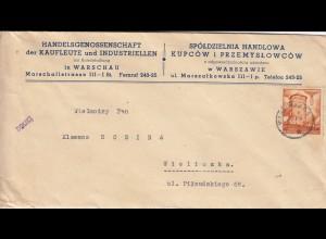 GG EF als Drucksache von Warschau portogerecht nach Wieliczka