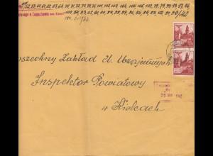 GG Großbrief 2. Gew. Stufe, portogerechte MeF Kielce