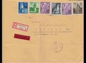 GG Großbrief R-Eil Brief Tschenstochau nach Beuthen, schöne MiF