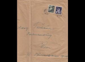 GG Großbrief R- Brief Krakau, portogerechte MiF der 3. Gew. Stufe nach Wien