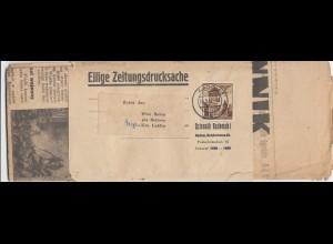GG Streifband mit vollständiger Zeitung, portogerechte EF, Radom nach Wies Babin